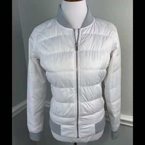 Athleta White puffer